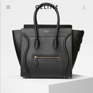Authentic Celine Micro Luggage Handbag